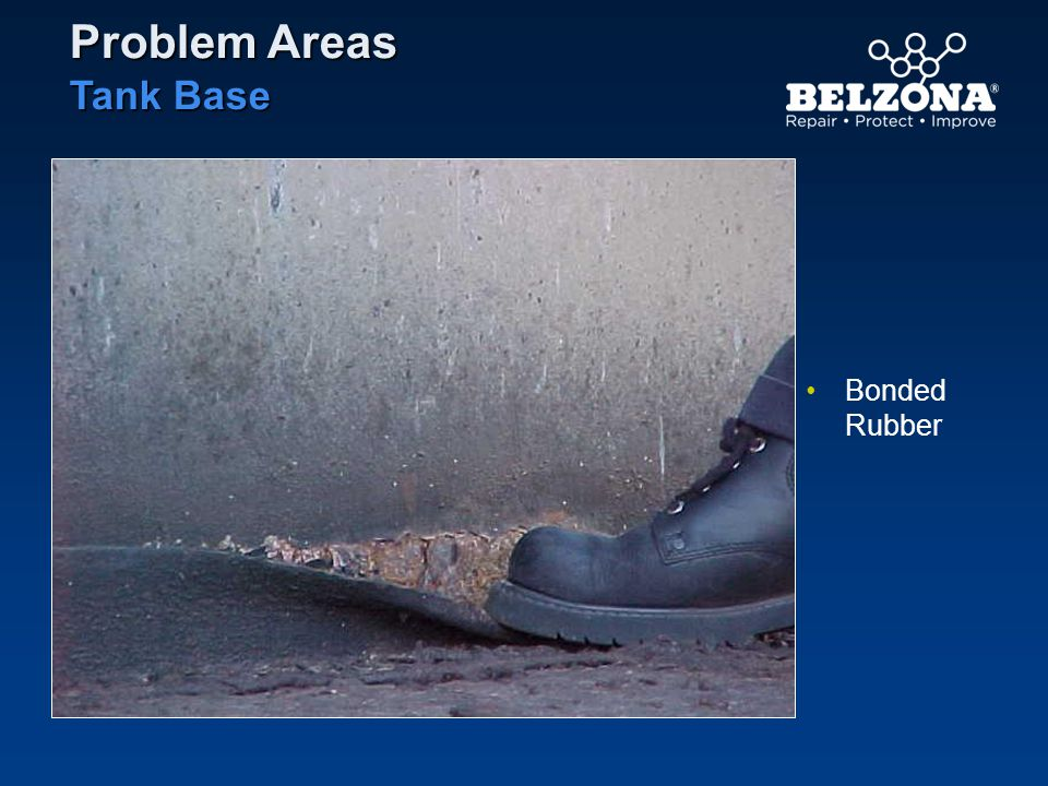 Bonded Rubber Problem Areas Tank Base