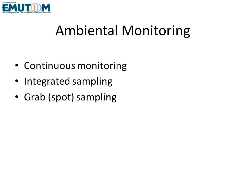 Continuous Monitoring Provides real-time measurement of contaminant concentration.