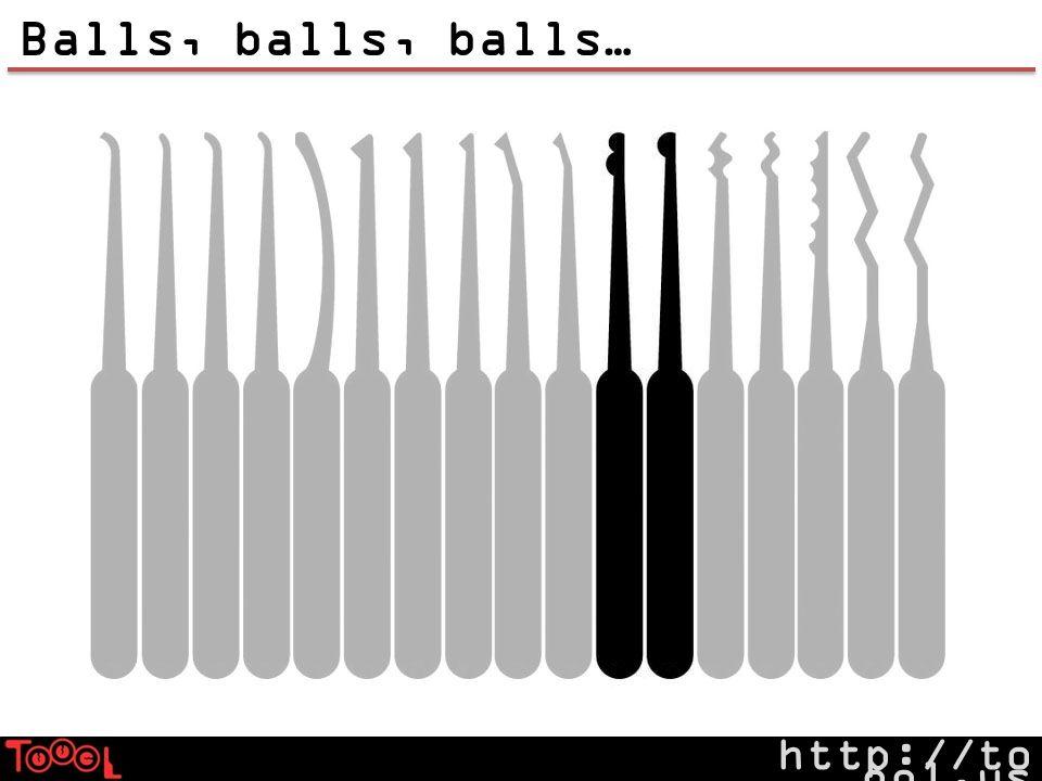 http://to ool.us Balls, balls, balls…