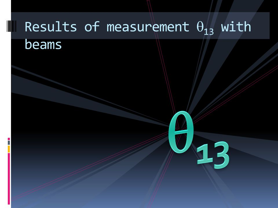Results of measurement 13 with beams