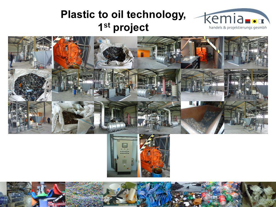 Plastic to oil technology, 1 st project