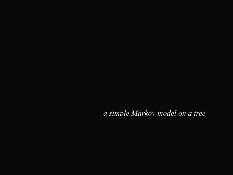 a simple Markov model on a tree