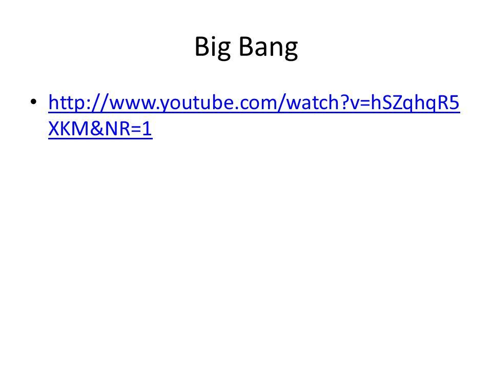 Big Bang http://www.youtube.com/watch v=hSZqhqR5 XKM&NR=1 http://www.youtube.com/watch v=hSZqhqR5 XKM&NR=1