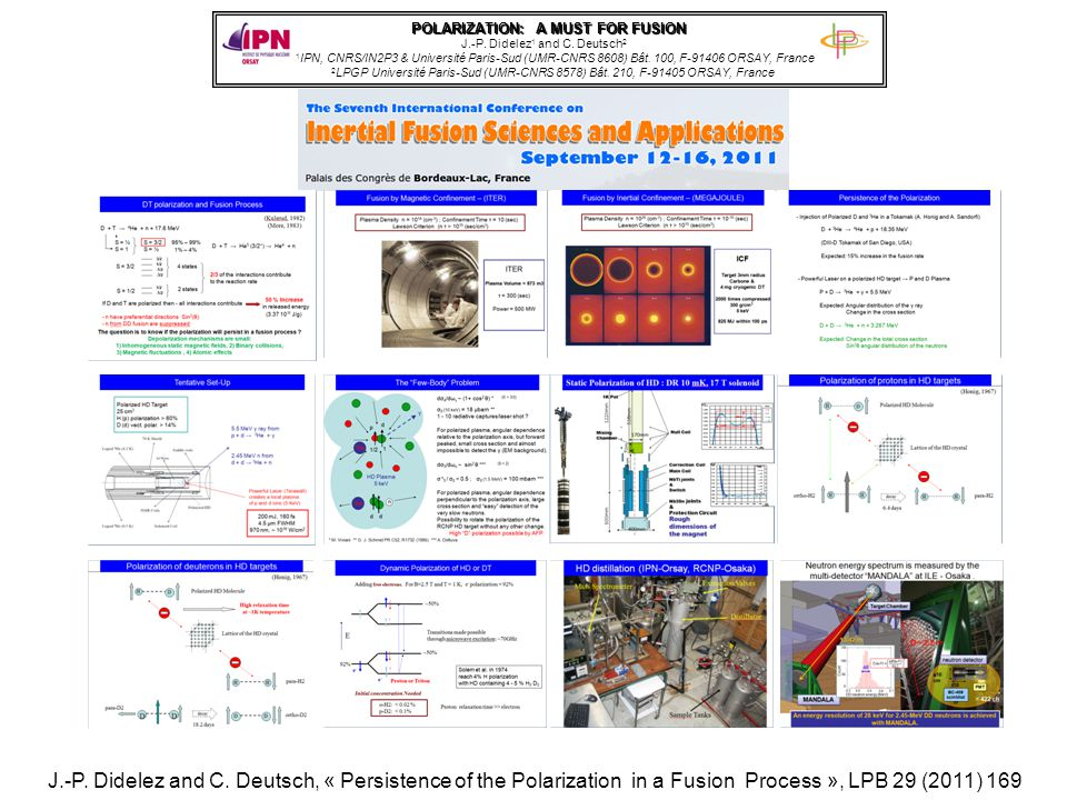 POLARIZATION: A MUST FOR FUSION J.-P. Didelez 1 and C.