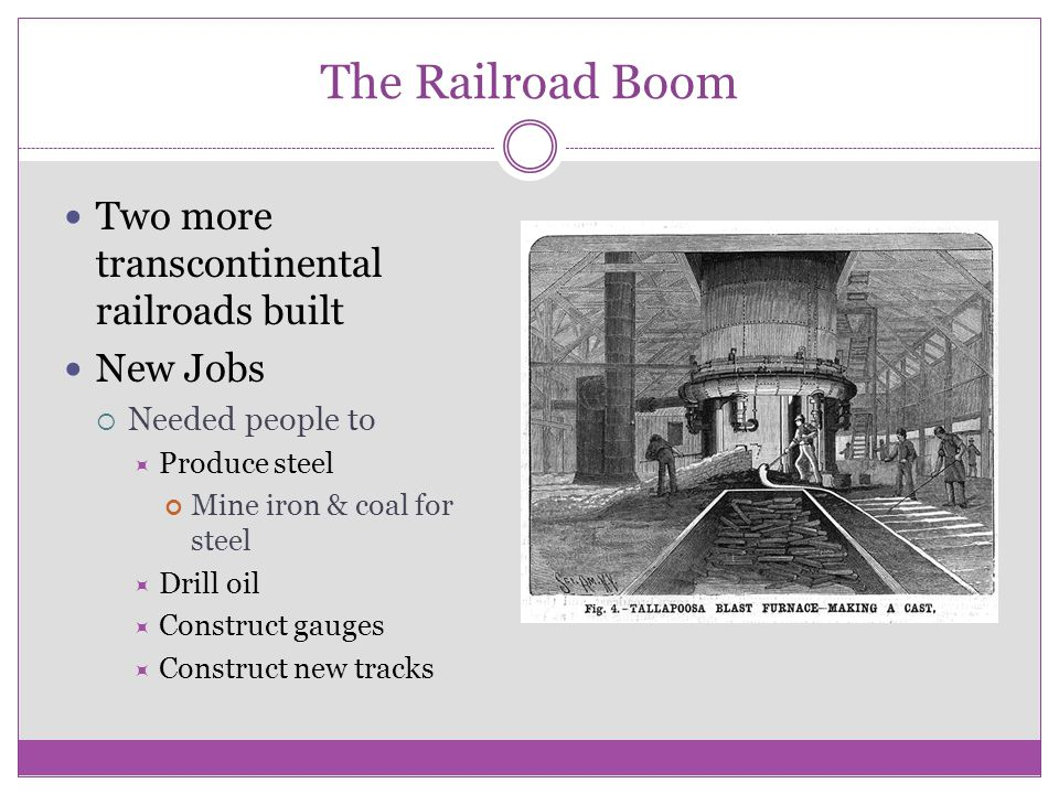 Factors That Led To The Boom More Comfortable Travel Pullman Sleeping Cars Dining Cars Increased ridership
