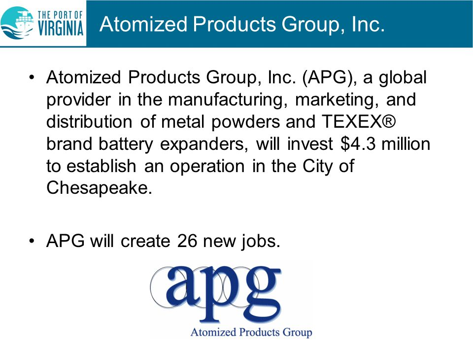 Atomized Products Group, Inc. Atomized Products Group, Inc.
