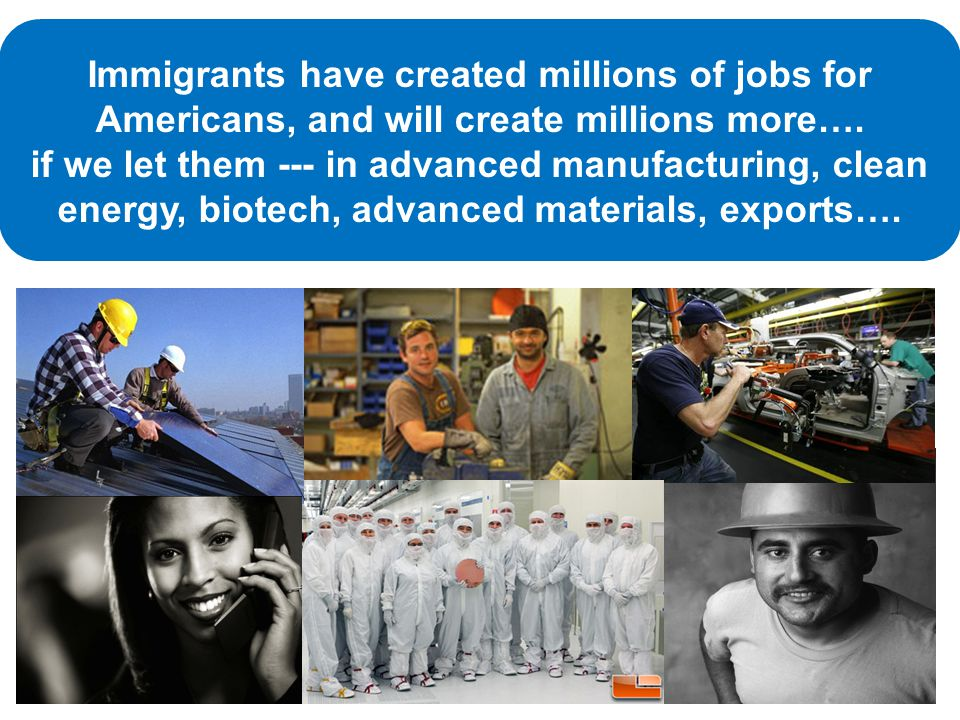 Immigrants have created millions of jobs for Americans, and will create millions more….