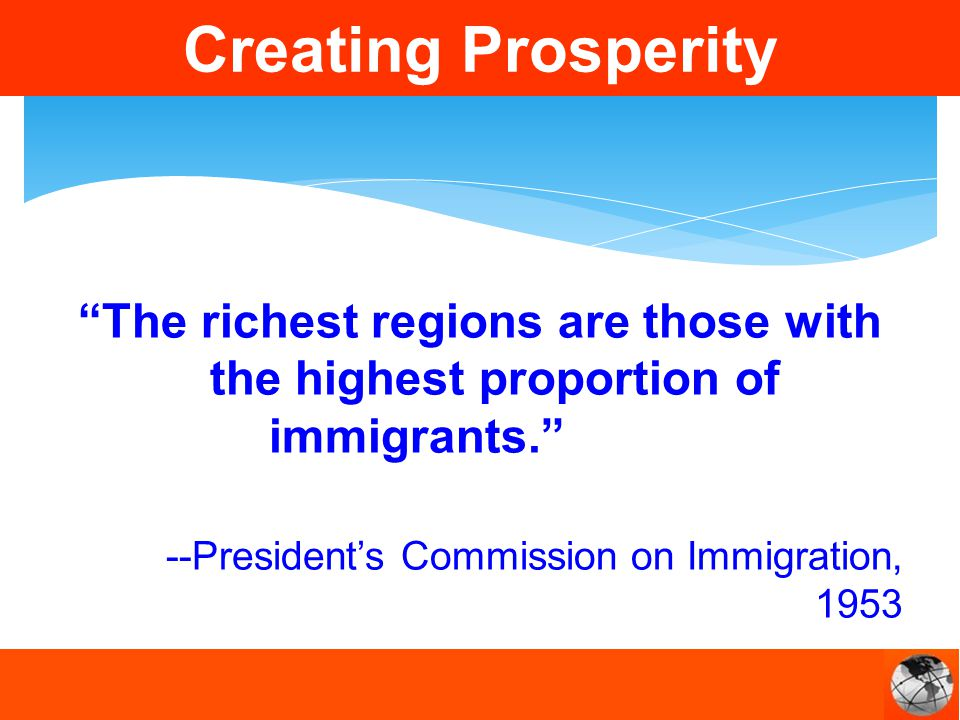 The richest regions are those with the highest proportion of immigrants.