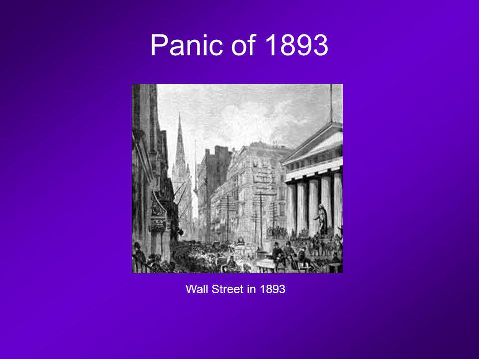 Panic of 1893 Wall Street in 1893