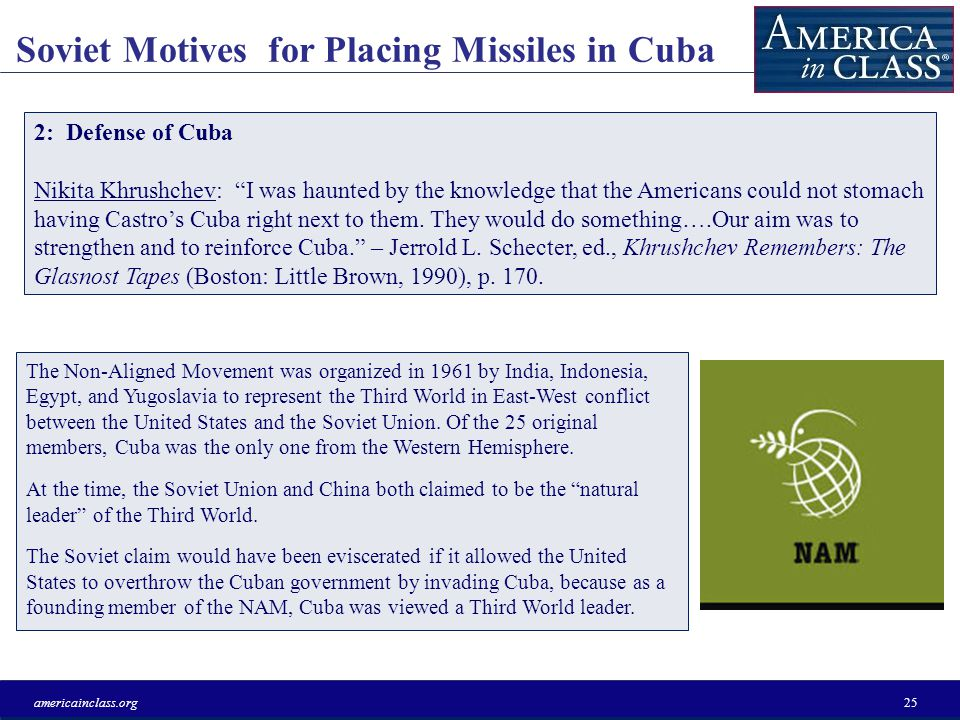 New Lessons from the Cuban Missile Crisis americainclass.org24 The Soviet Union responded to Gilpatrics speech by exploding a 50-megaton hydrogen bomb in the atmosphere on October 30, 1961