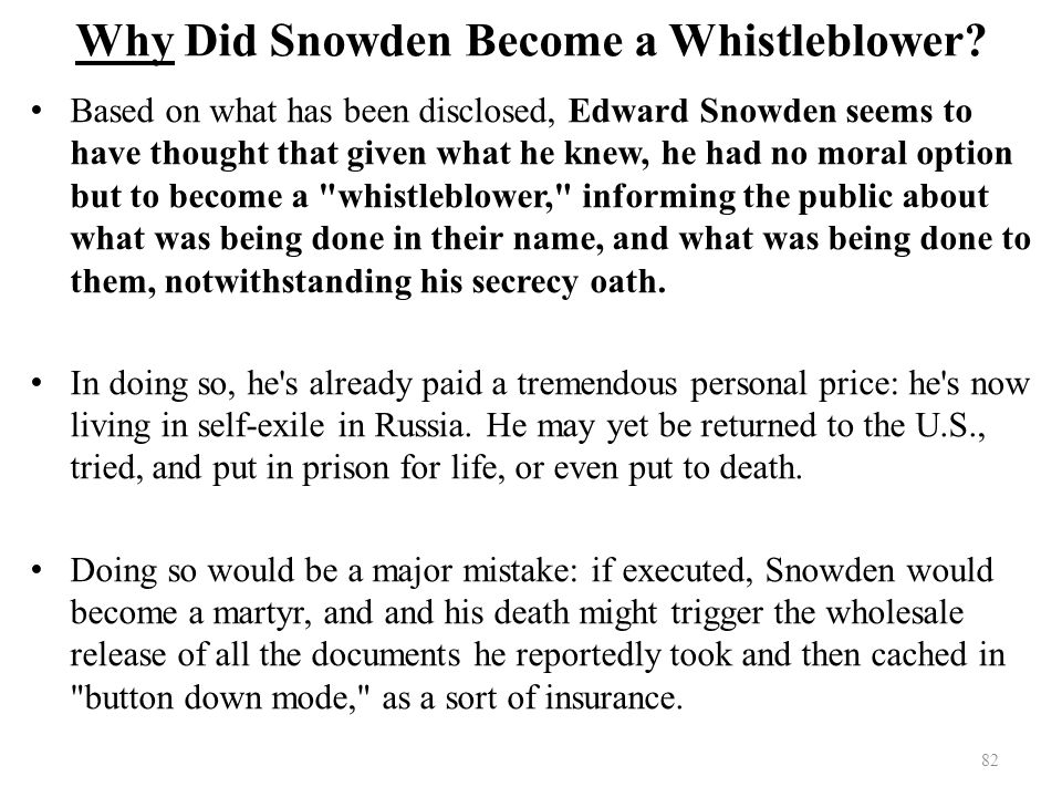 Why Did Snowden Become a Whistleblower.
