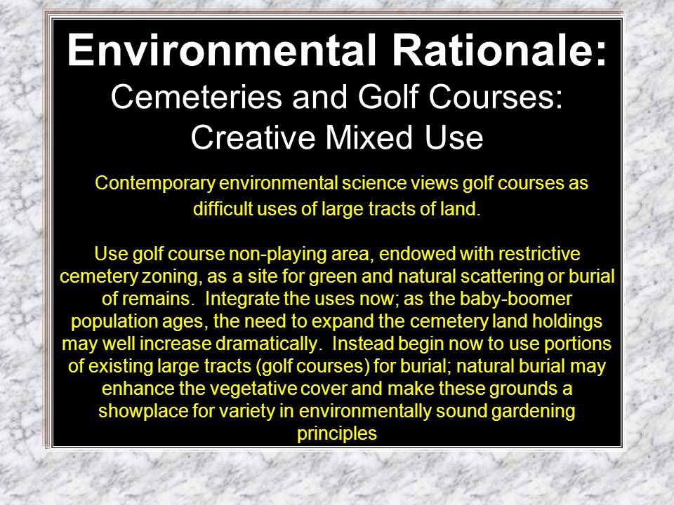 Golf courses: EPA data (http://www.epa.gov/oppefed1/models/water/golf_course_adjustment_factors.htm )15,827 golf courses (March 2003) range in size from 110-200 acres.