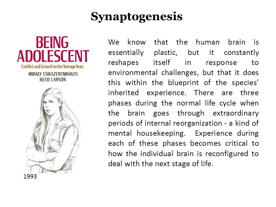 We know that the human brain is essentially plastic, but it constantly reshapes itself in response to environmental challenges, but that it does this within the blueprint of the species inherited experience.
