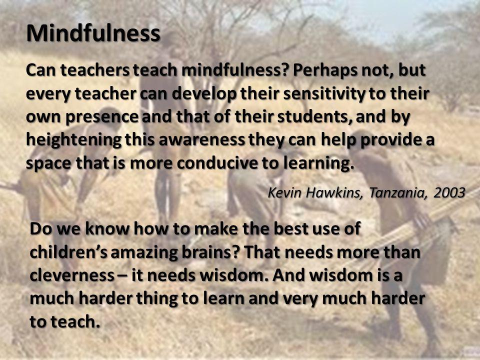 Can teachers teach mindfulness.