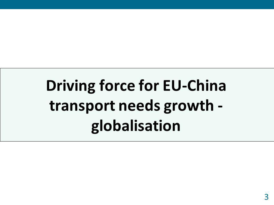 Driving force for EU-China transport needs growth - globalisation 3 Forum 2013