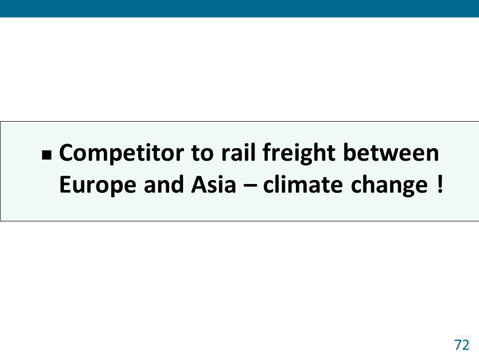 Competitor to rail freight between Europe and Asia – climate change ! 72
