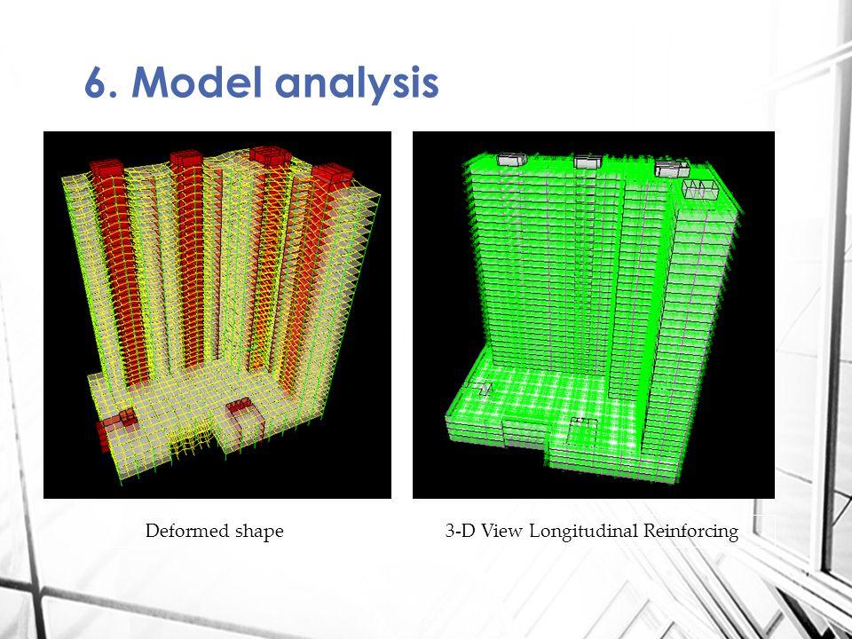 6. Model analysis Deformed shape3-D View Longitudinal Reinforcing
