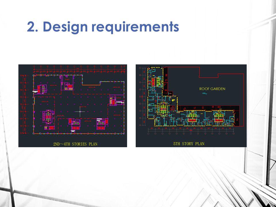 2. Design requirements