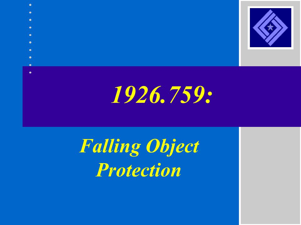1926.759: Falling Object Protection