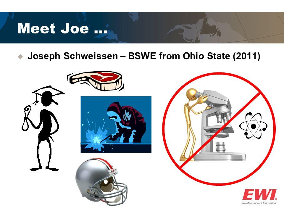 Meet Joe … Joseph Schweissen – BSWE from Ohio State (2011)
