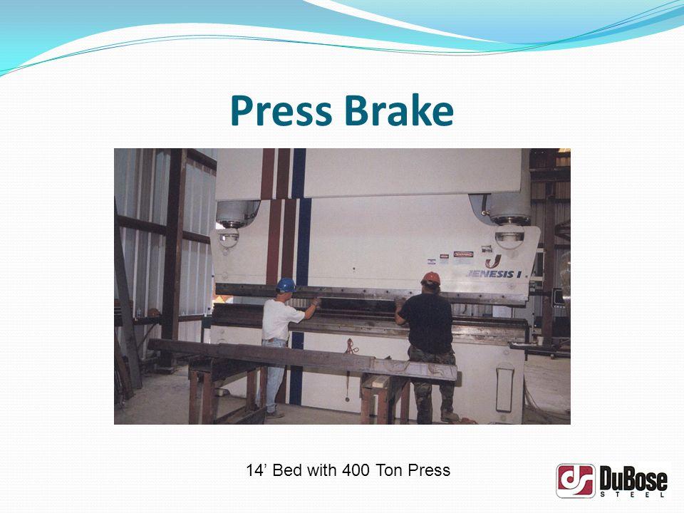 Press Brake 14 Bed with 400 Ton Press