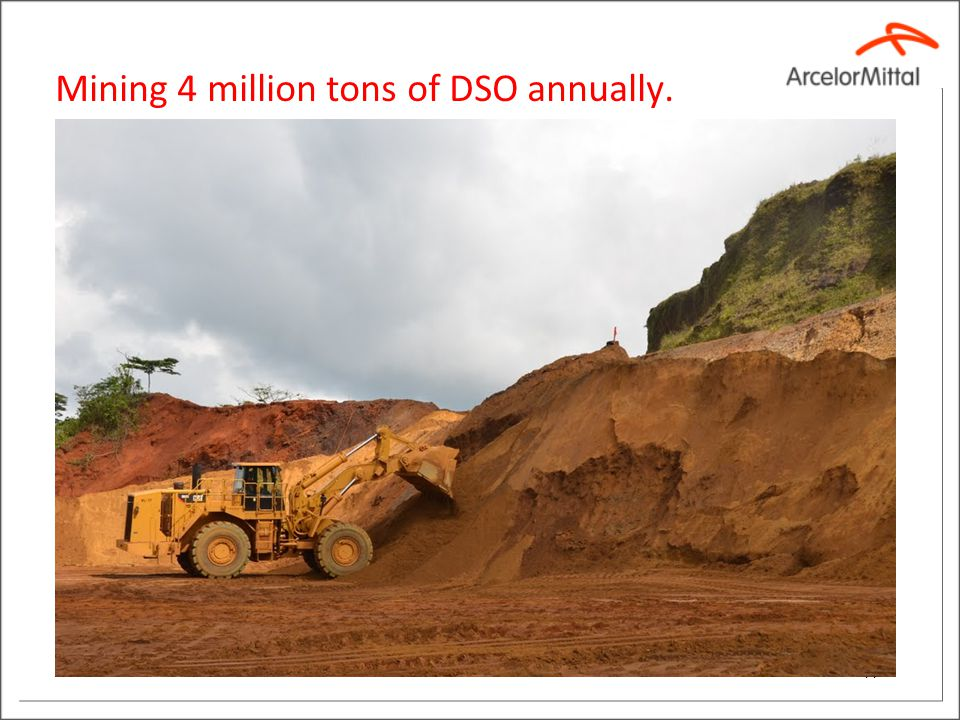 Mining 4 million tons of DSO annually. 11