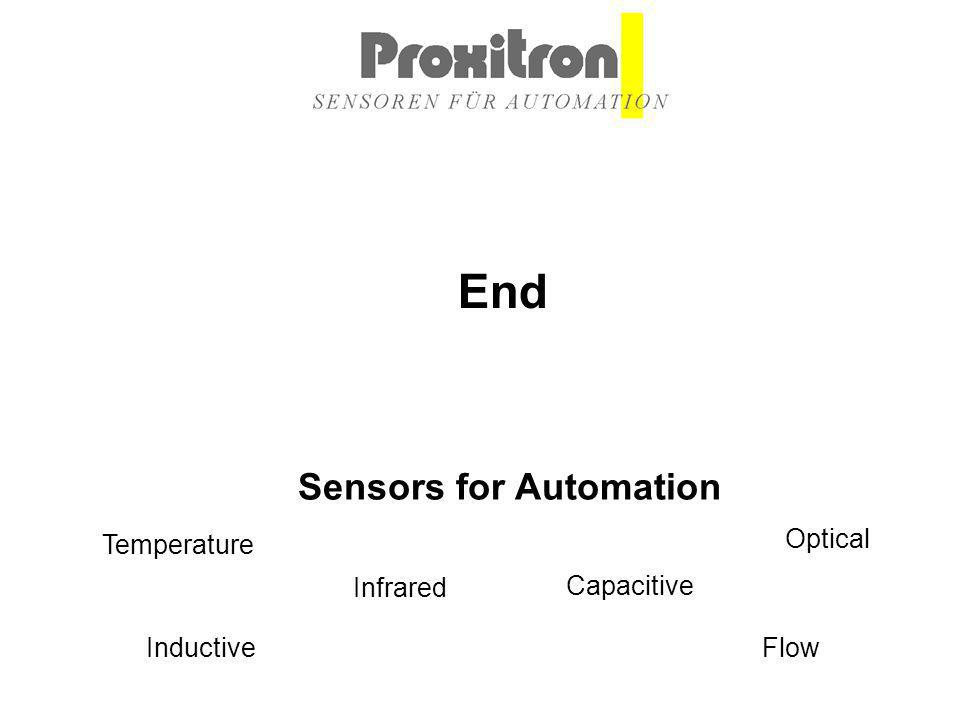 Inductive Capacitive Optical Infrared Flow Temperature Sensors for Automation End