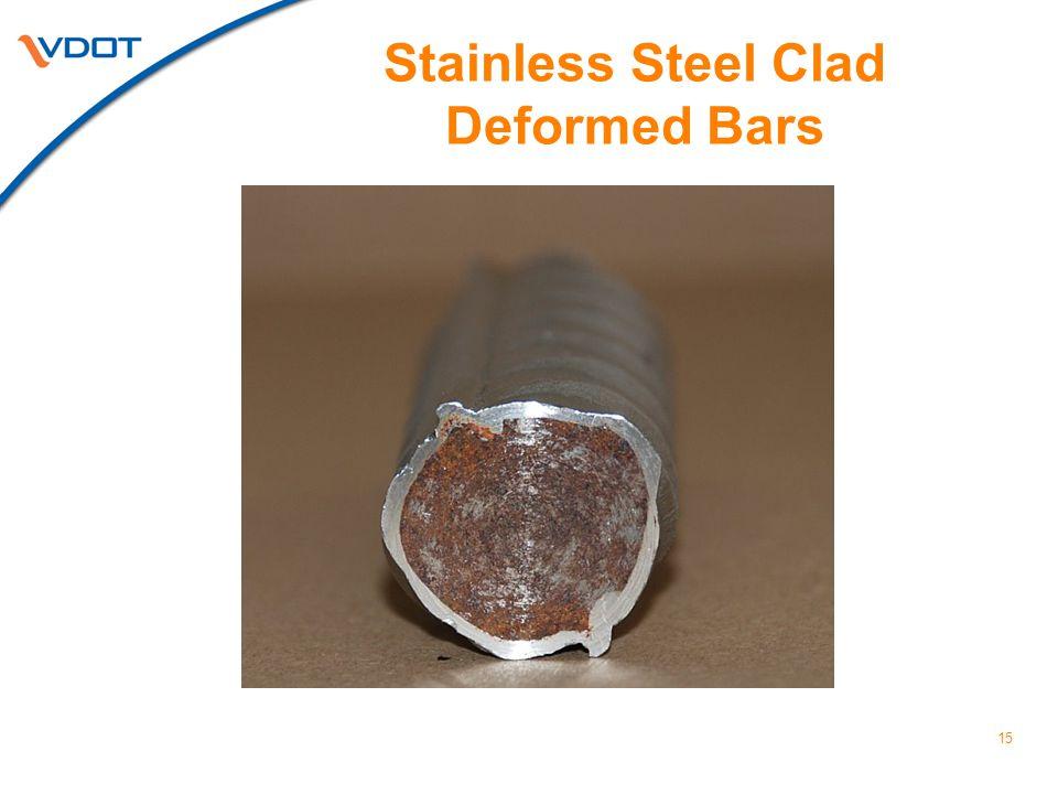 15 Stainless Steel Clad Deformed Bars