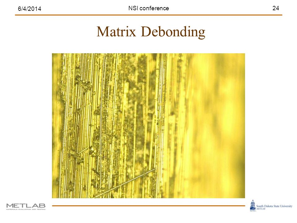Matrix Debonding 6/4/2014 24NSI conference