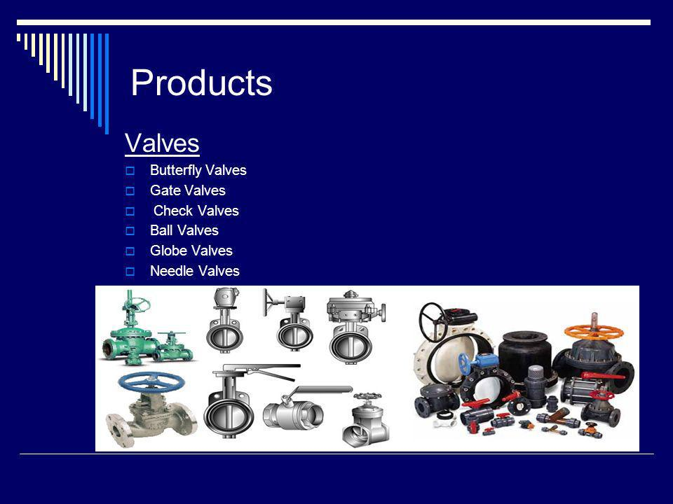 Products Valves Butterfly Valves Gate Valves Check Valves Ball Valves Globe Valves Needle Valves