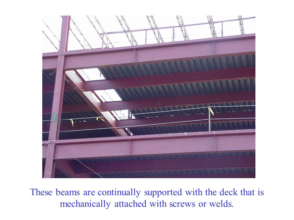 During construction, these girders are fully unsupported.