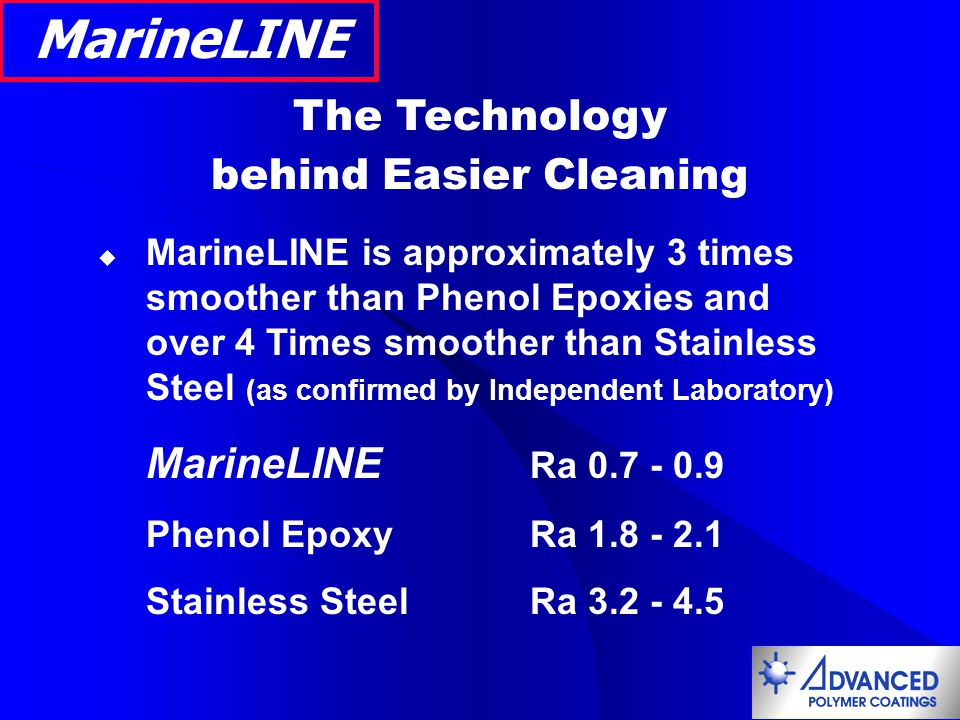 MarineLINE Siloxirane Coating Approved for Food and Potable Water