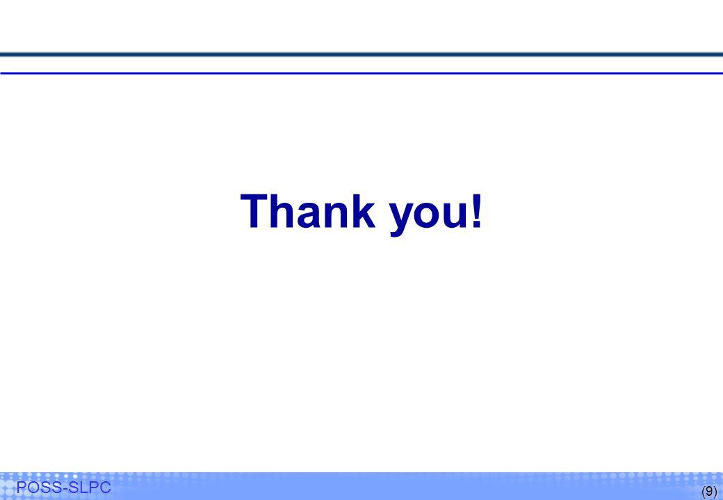 (9) POSS-SLPC Thank you!