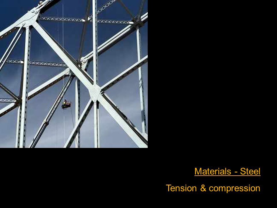 Materials - Steel Tension & compression