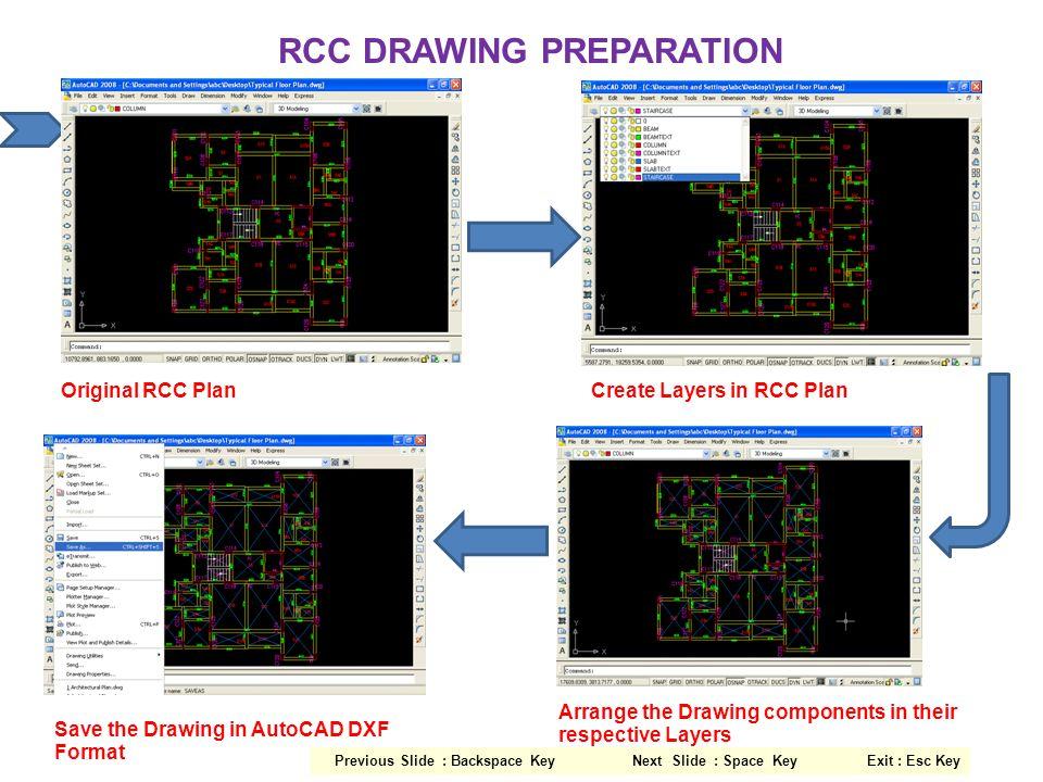 RCC CONCRETE QUANTITIES Select Concrete from Display RCC Quantities Option : Footing Concrete Quantities Beam Concrete Quantities Column Concrete QuantitiesSlab Concrete Quantities