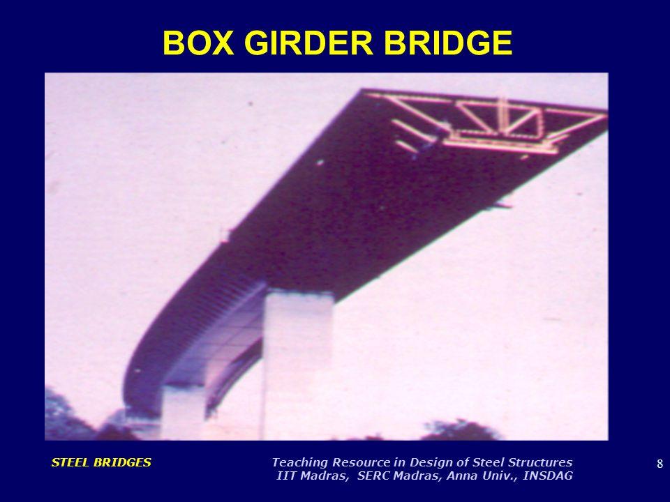 9 STEEL BRIDGES Teaching Resource in Design of Steel Structures IIT Madras, SERC Madras, Anna Univ., INSDAG BOX GIRDER BRIDGE