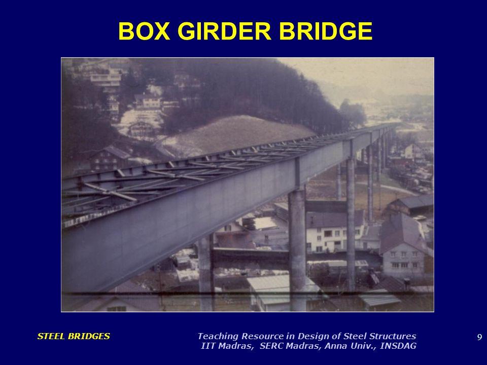 10 STEEL BRIDGES Teaching Resource in Design of Steel Structures IIT Madras, SERC Madras, Anna Univ., INSDAG BOX GIRDER BRIDGE