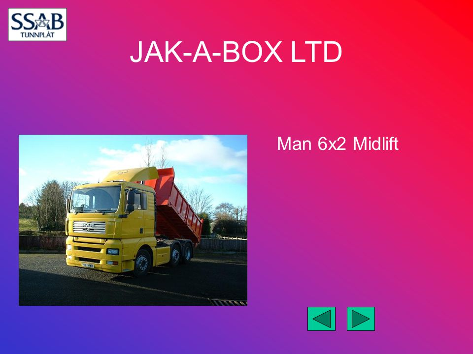JAK-A-BOX LTD Man 6x2 Midlift