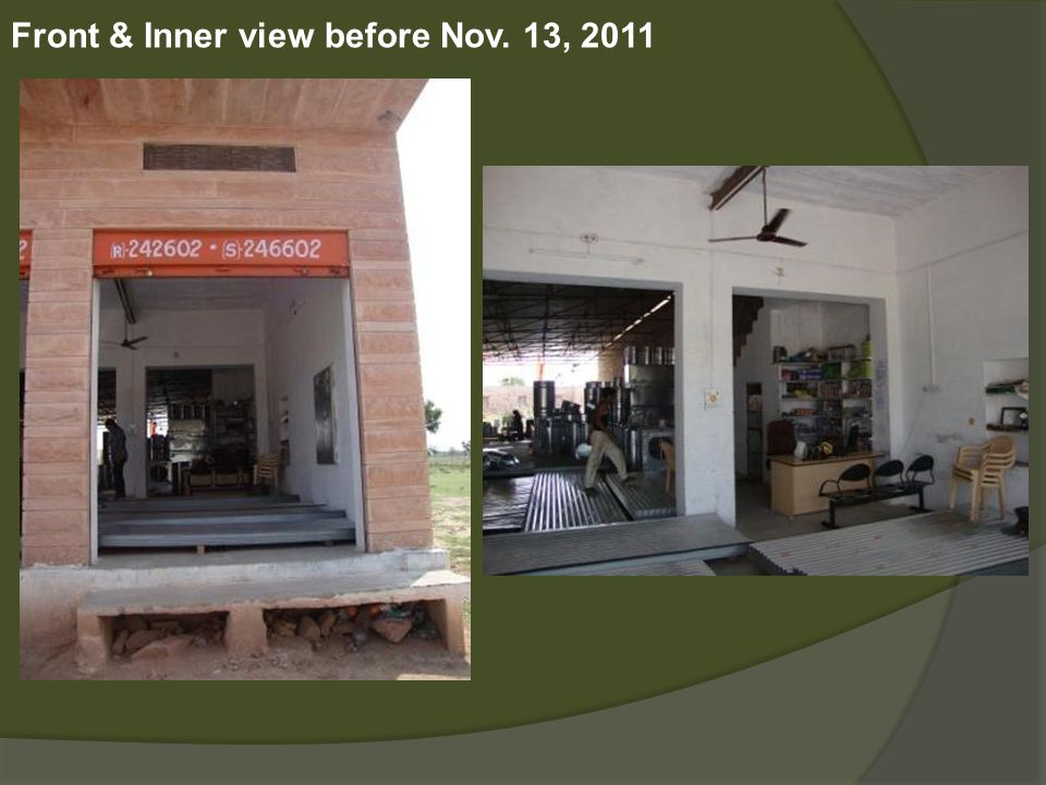 Front & Inner view before Nov. 13, 2011
