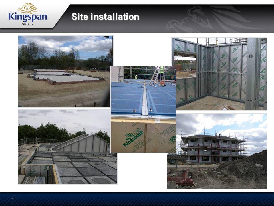 21 Site installation