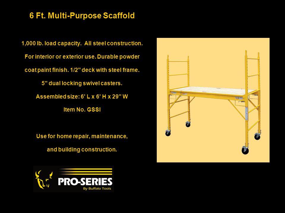 6 Ft.Multi-Purpose Scaffold 1,000 lb. load capacity.