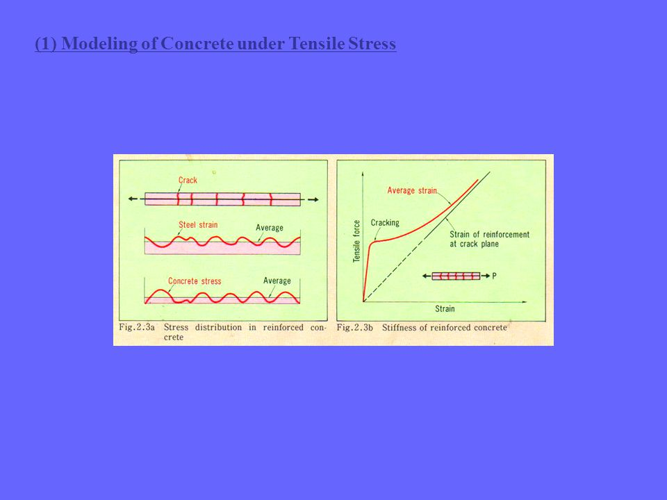 (1) Modeling of Concrete under Tensile Stress