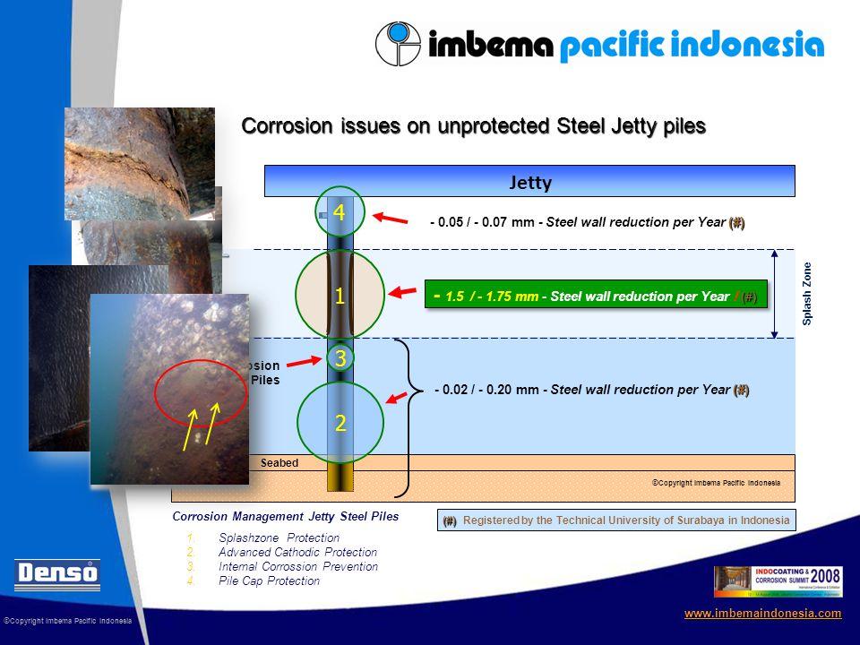 Sea Level HWL Seabed LWL Corrosion Management for Steel Jetty Piles © Copyright Imbema Pacific Indonesia www.imbemaindonesia.com Splash Zone Protection + 1 meter SeaShield Series 200DM SeaShield Series 200DM ® (NACE guideline) 1 Splash Zone Jetty © Copyright Imbema Pacific Indonesia