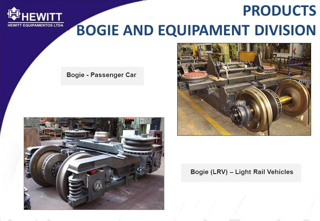 Bogie (LRV) – Light Rail Vehícles Bogie - Passenger Car PRODUCTS BOGIE AND EQUIPAMENT DIVISION