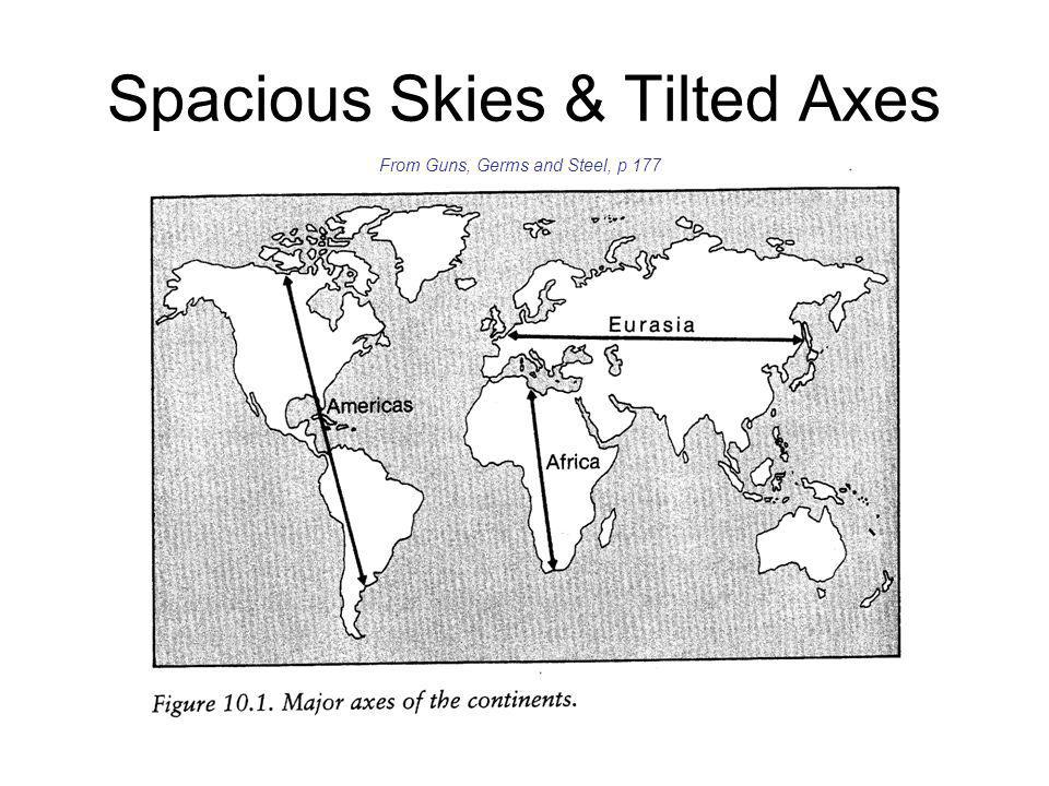 Spacious Skies & Tilted Axes From Guns, Germs and Steel, p 177