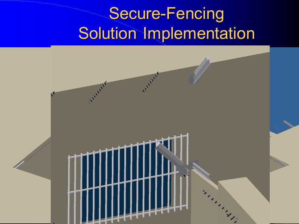 Secure-Fencing Solution Implementation Corner Pole and CCTV protection Stainless Steel frames 9000V outside Sensor inside