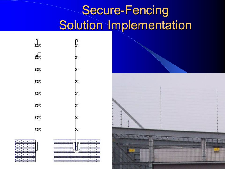 Secure-Fencing Solution Implementation Horizontal on Walls and roofs Tilting installation