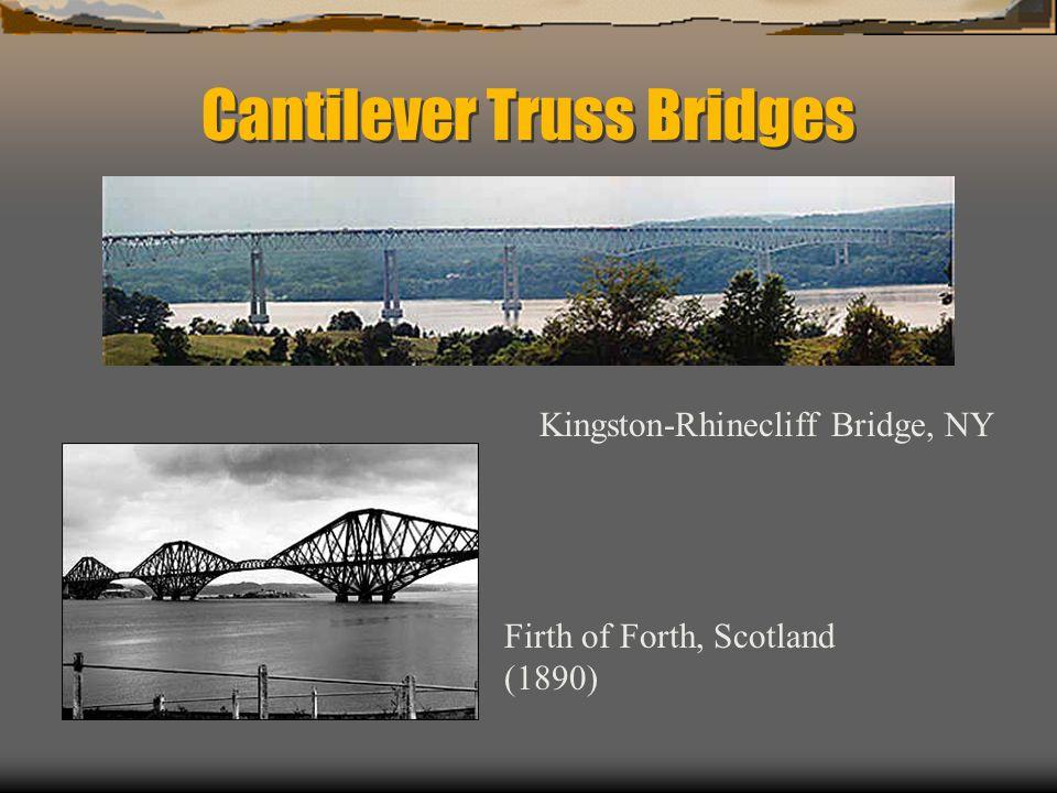 Cantilever Truss Bridges Firth of Forth, Scotland (1890) Kingston-Rhinecliff Bridge, NY