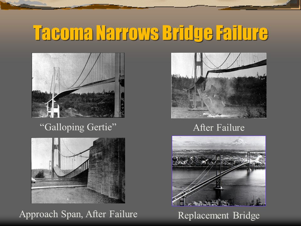 Tacoma Narrows Bridge Failure After Failure Galloping Gertie Approach Span, After Failure Replacement Bridge