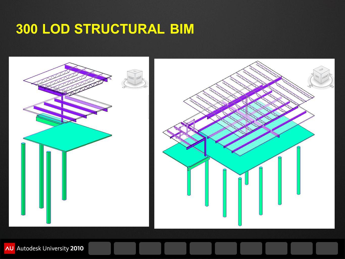 300 LOD STRUCTURAL BIM